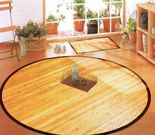 Bambusteppich Teppich Bambusmatte NATURE  in rund, Küchenteppich, ca. 125 cm