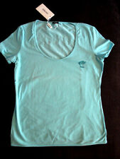 Tee-shirt Versace Sport pour femme, blue, taille L manches courtes Neuf