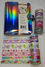Iridescent Unicorn Planner 40pc Recollections Personal Size A6 w/ Washi Tape Set