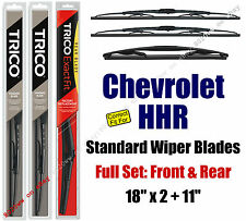 Wiper Blades 3pk Front Rear Standard fit 2006-11 Chevrolet Chevy HHR 30180x2/11A