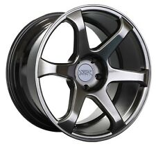 XXR 556 18x8 Rims 5x108 +42 Chromium Blk Wheels Fits 5 Lug Ford Focus Taurus Sho