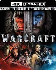 Warcraft (4K Ultra HD + Blu-Ray + DVD, 2016) SEALED W/ Slipcover