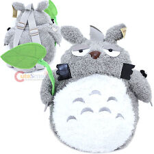 Totoro Plush  Doll Backpack PlushCostume Bag with Leaf and  Soot Sprite