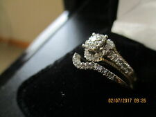 10K YELLOW GOLD .60 CARAT WOMENS REAL DIAMOND ENGAGEMENT RING WEDDING BAND SET