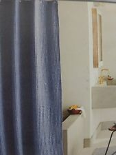 "Threshold Blue Heathered Waffleweave Fabric Shower Curtain 72"" x 72"" NIP"