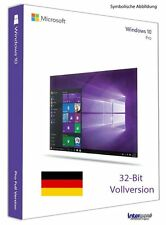 Microsoft Windows 10 Pro Vollversion SB 32-Bit + Hologramm-DVD DE OVP NEU