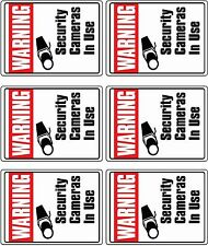 6  CCTV VIDEO SURVEILLANCE Security Burglar Alarm Decal  Warning Sticker Signs