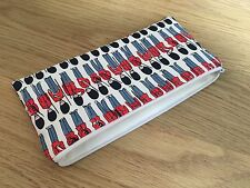 Handmade Pencil Make Up Glasses Case Made With Cath Kidston Guards Fabric