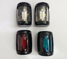 Marine Boat 12V LED Navigation Light Starboard/Port/Masthead/Stern 1 Set Black