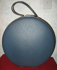 American Tourister Round Train / Hat Box Luggage Vintage 60s Blue