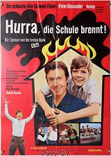 Hurra, die Schule brennt!|Lümmel # 4 1969 Peter Alexander Heintje Filmplakat A1