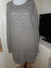 M AND S INDIGO LONG TUNIC JUMPER. SIZE 20 BNWT