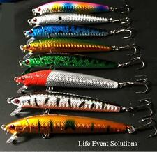 8X Fishing Lures, 10cm Long Flash Minnow, Top Quality Diving  Barra Mackeral Jac
