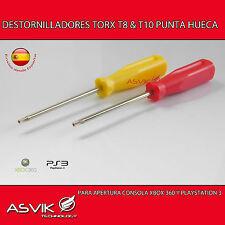 DESTORNILLADORES TORX T8 y T10 PARA ABRIR LAS CONSOLAS XBOX 360,PS3 SLIM y FAT