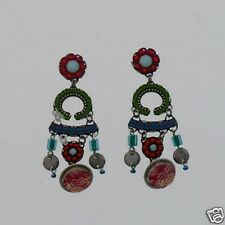 AYALA BAR EARRINGS - GARDEN FEAST COLLECTION - POST DANGLES (1533)