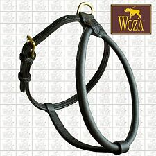 PREMIUM WOZA HARNESS FOR BULLDOG FULL LEATHER PADDED GENUINE COW SOFT NAPA H2359