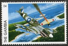 RAAF Royal Australian Air Force SPITFIRE Mk.VIII Aircraft Stamp (1996 Gambia)