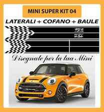 MINI ONE, COOPER, COOPER S ADESIVI SUPER KIT 04 COFANO + LATERALI + BAULE