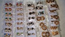 Joblot of 60 Pairs Sea Shell &Pearl Diamante Stud Earrings - NEW Wholesale lot 4
