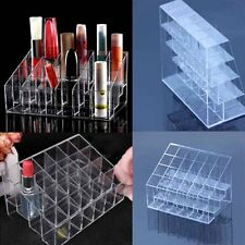 24 Trapezoid Clear Makeup Display Lipstick Stand Case Cosmetic Organizer Case DE