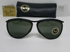 New Vintage B&L Ray Ban Olympian Aviator Black Sunglasses USA