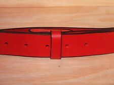 Red Leather Belt Strap 1 1/2 Inch Wide (38mm) Waist Size Mens Ladies Black Brown