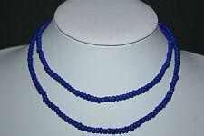 Strang blaue indische Glasperlen Bastelperlen