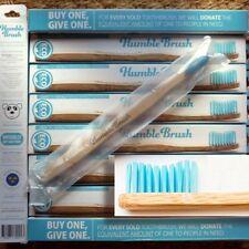 Humble Brush  Zahnbürste Blau soft mit Bambus-Griff Nachhaltig 100% recyclebar