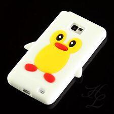 Samsung Galaxy S2 i9100 Silikon TPU Case Handy Schale Schutz Hülle Pinguin Weiß