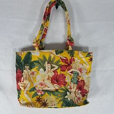 Pinup Hula Hawaiian Tiki Rockabilly Yellow Red Purse Bag Handbag Shoulder Bag