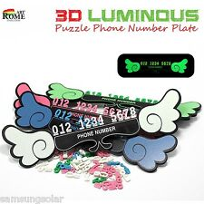 3D Lumindus Puzzle Car Parking Phone Number Notification Plate Car Parking