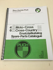 Puch 125 / 175 MX & Cross Country  1970  Vintage Spares  Manual Re-Print