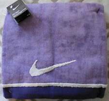 "Nike Toddler Bath Towel Purple Earth/Night Blue/Neutral Grey Large 24"" x 48"" New"