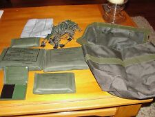 NEW GERMAN MILITARY LOT FIRST AID MAKE UP CARRYING CASE NET HANDKERCHIEF BANDAGE