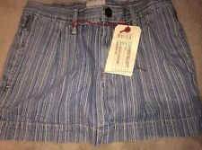 NWT Current Elliott Womens Denim Jean Mini Skirt Stripe