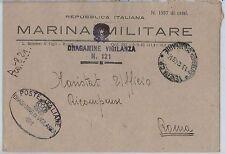 ITALIA  - FRANCHIGIA MILITARE: MARINA - Nave : DRAGAMINE di VIGILANZA 121
