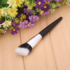 R6H1 Feel Stipple Oblique Head Makeup Brush For Foundation Powder Blusher Bronze