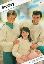 ~ Studley Knitting Pattern For Traditional Aran Sweaters ~