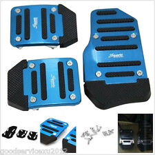 3 Pcs One Set Blue Sport Manual Car Autos Anti-slip Brake Pedals Cover For Honda