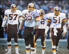 Dave Butz Monte Coleman Rich Milot Neal Olkewicz Signed 16x20 Washington Redskin