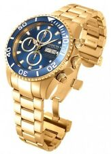 Mens Invicta 18915 Pro Diver Reserve Swiss Automatic 7750 Gold Tone Steel Watch