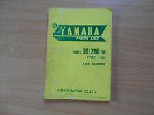 Parts list catalog catalogue Teile Katalog Yamaha DT 125 E (1GO) 1976