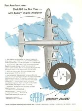 1950 Sperry Gyroscope Ad Pan Am Lockheed Constellation Clipper Airplane PAA