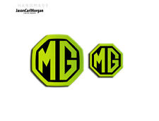 MG ZT Badge Inserts Front Grill Rear Boot Emblem Badges 59/40mm Night Glow Green