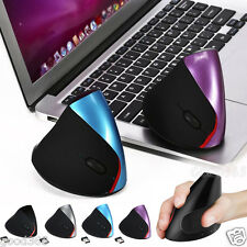 2.4GHz Wireless Mice Ergonomic Vertical 2400dpi Mouse USB Dongle For Laptop PC