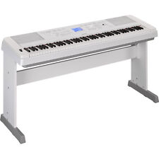 Yamaha DGX-660 88-Key Weighted USB Grand Digital Piano Keyboard White + Stand