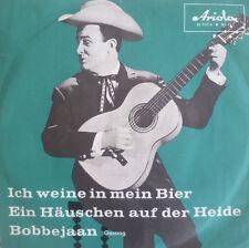 """7"""" 1960 RARE IN MINT-! BOBBEJAAN Ich weine in mein Bier"""