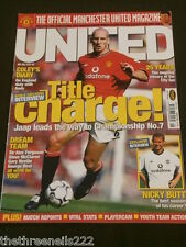 MANCHESTER UNITED - NICKY BUTT - MAY 2001