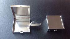 Square Pocket Ashtray Brushed Metal