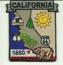 CALIFORNIA STATE MAP Embroidered Patch